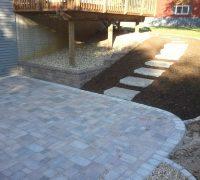 patio with pavers