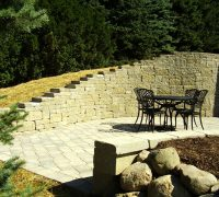 patio retaining wall