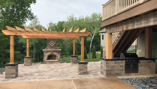 Outdoor Landscape gazebo and patio